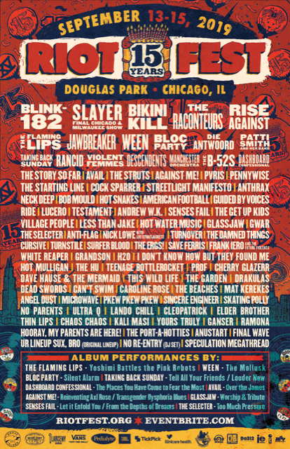 818ff8a3d Tickets are on sale now for a pretty inexpensive $130, but prices will go up  over time so the earlier you buy the better. Riot Fest 2019 takes place  from ...